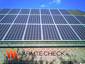 Foto van de zonnepanelen